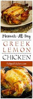 Marinate-All-Day Greek Lemon Chicken found on KalynsKitchen.com