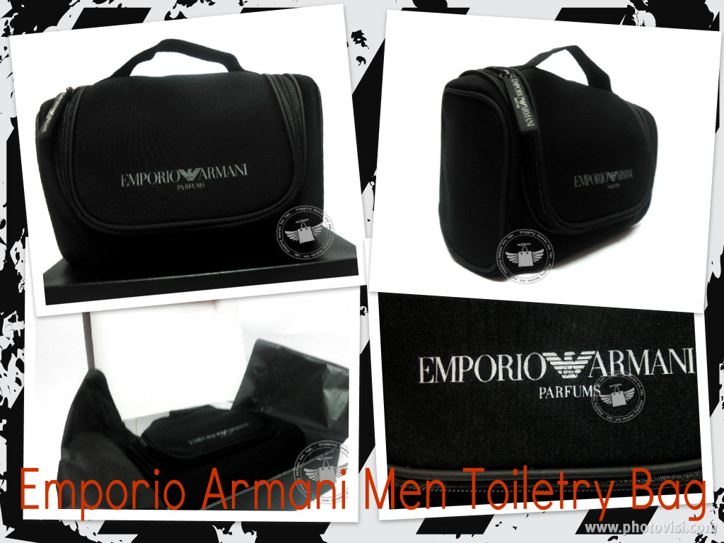 Emporio Armani Man Toiletry Bag With Gift Box Measurement Approx   25cm (L)  x 14.5cm (H) x 12.5cm (W) Materials   90% EVA 10% Polyester + 100%  Polyester ... 6427eea9b9974