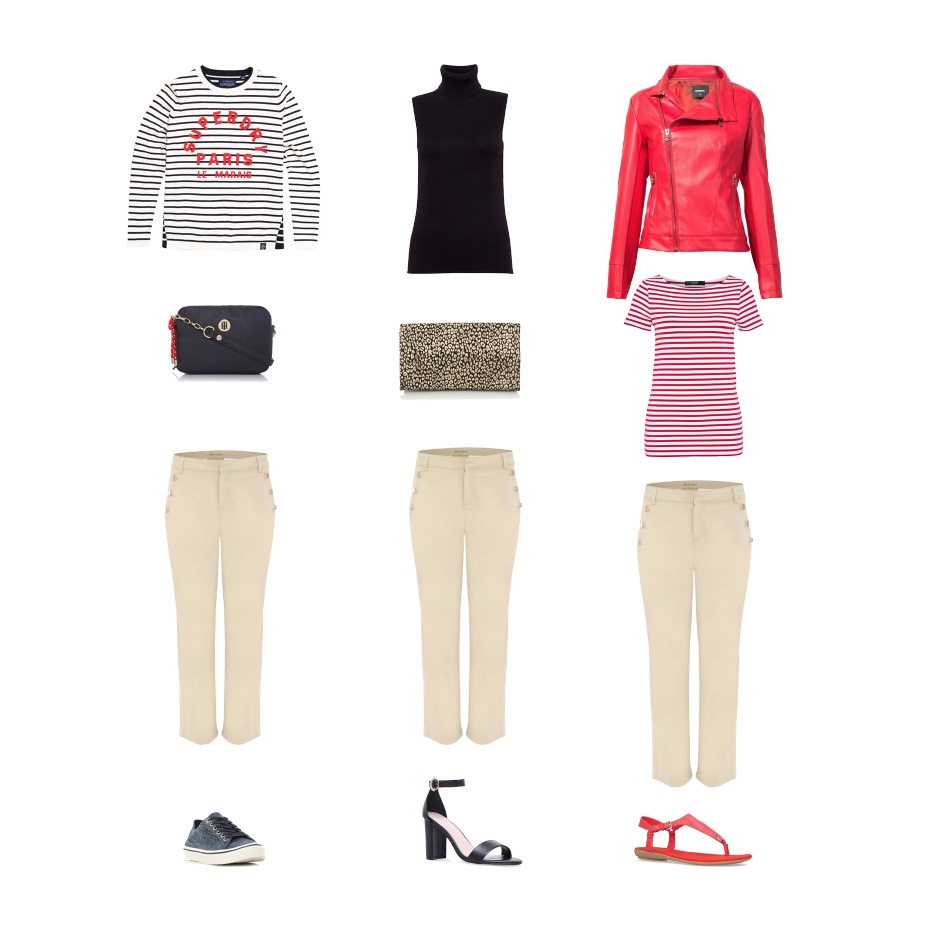 my midlife fashion, house of fraser, superdry le marais stripe knit jumper, tommy hilfiger th buckle saffiano crossover crossbody bag, phase eight made button soft crop trousers, tommy hilfiger lw knitted skitted trainers, great plains bella basic high neck jumper, biba foldover leather clutch, phase eight madi button soft crop trousers, carvel loyal sandals, desigual jacket marie therese, hallhuber basic stripe top, phase eight madi button soft crop trousers, nine west kellar sandals