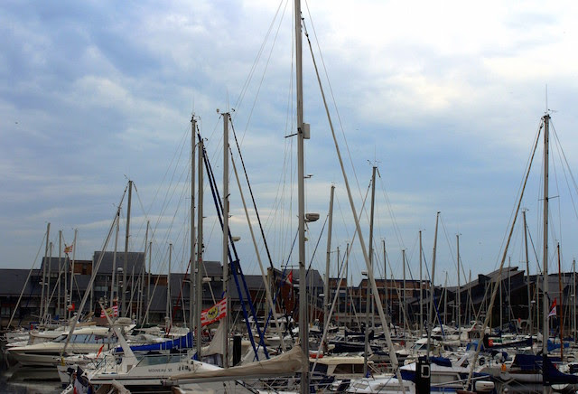 Sailing boats in Deauville