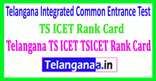 TSICET Rank Card