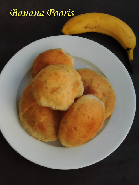 Banana Puris, Banana Pooris,Mangalore Buns