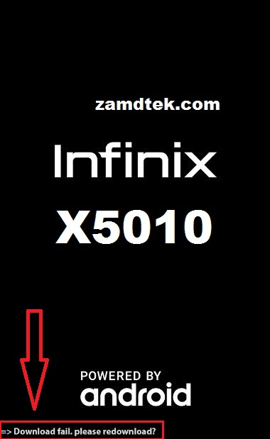 How to fix Infinix Smart X5010 download fail, please redownload.
