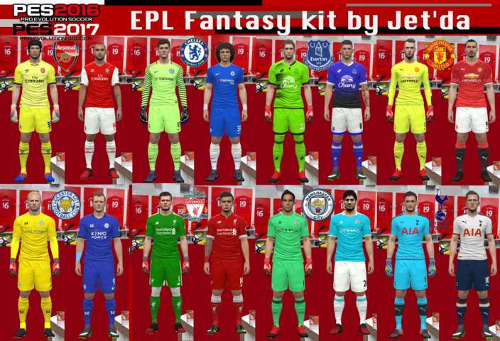 PES 2017 / PES 2016 EPL Fantasy Kit by Jet'da