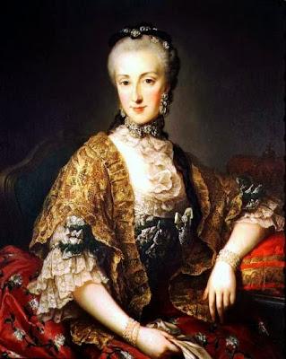 Archduchess Maria Anna Josepha Antonia of Austria By Martin van Meytens