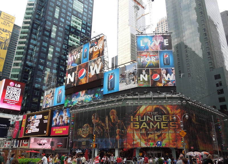 Pepsi Live For Now Times Square billboards