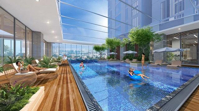 Bể bơi Chung cư Sun Group Lương Yên