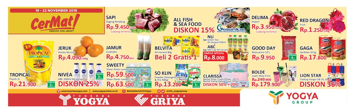 Yogya - Promo Katalog Cerdas & Hemat Periode 19 - 22 November 2018