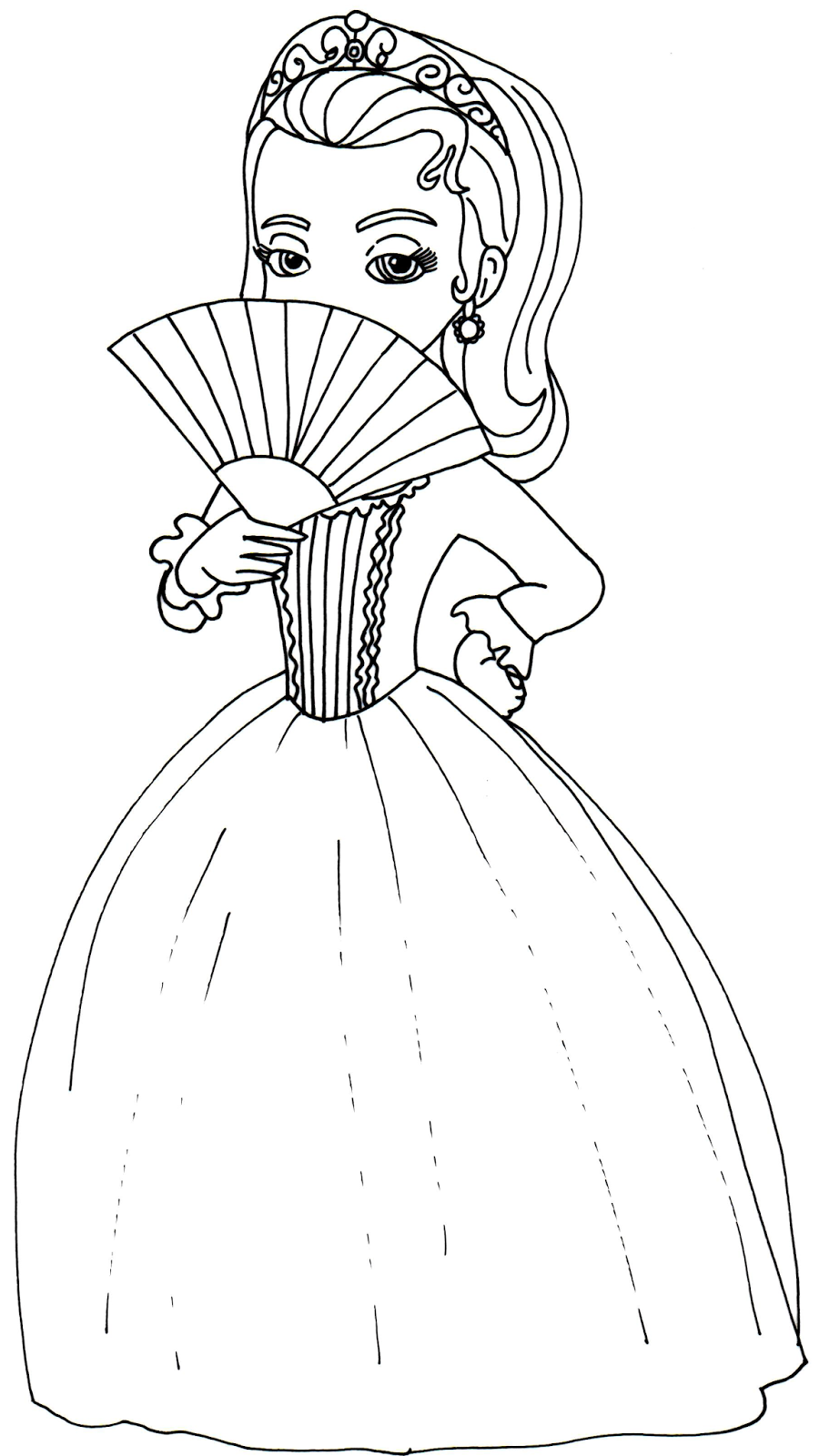 Sofia the first coloring pages princess amber sofia the for Sophie the first coloring pages