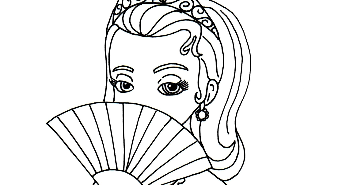 - Sofia The First Coloring Pages: Princess Amber Sofia The First Coloring Page