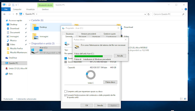 Come recuperare 30 GB di spazio su Disco di Windows 10