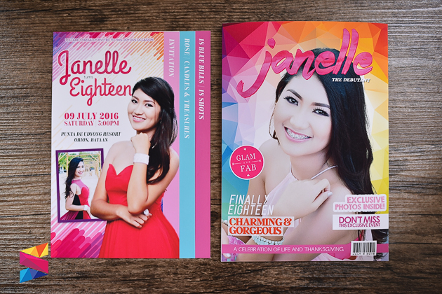 Janelle Debut Invitation - Stunro CreativeWorks