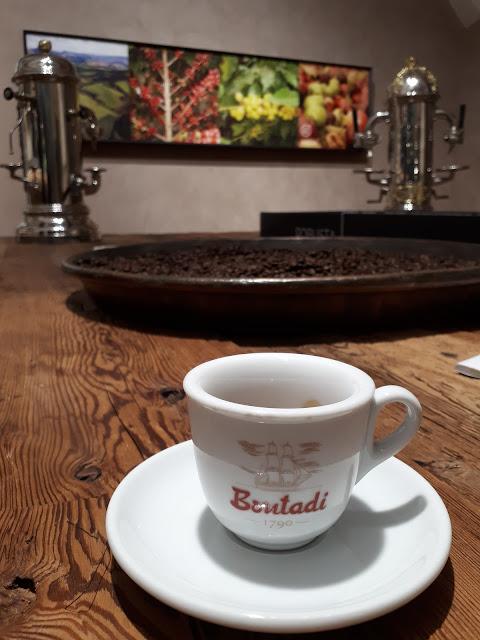a cup of Bontadi espresso in Rovereto