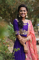 Actress Shraddha Srinath in Purple Chania Choli Cute Pics ~  Exclusive 37.jpg