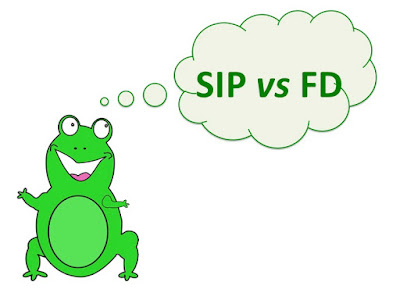 Picture shows happy frog wondering whether a SIP or Fixed Deposit is an attractive investment