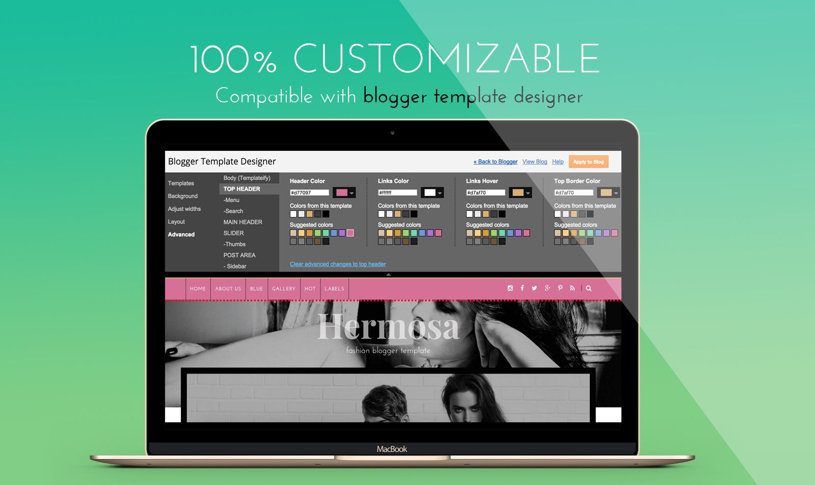 Hermosa Responsive Fashion Blogger Template - Personal