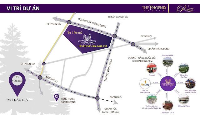 vị trí dự án the phoenix garden
