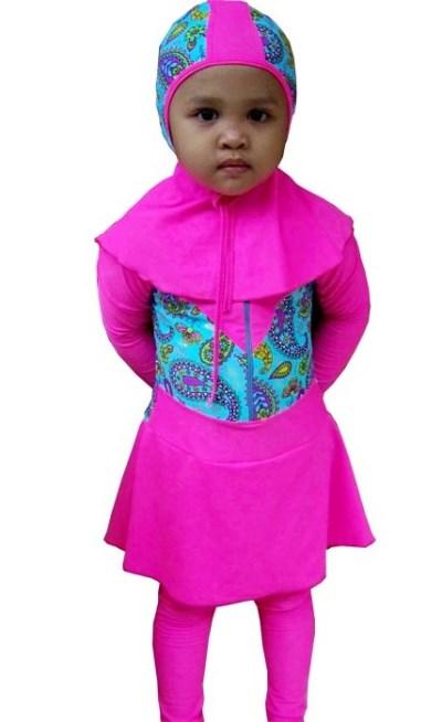 Baju Renang Anak Muslim Umur 4 tahun