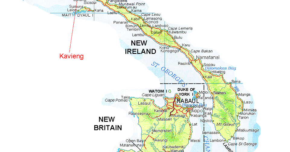 6 7 Magnitude Earthquake Shakes New Ireland Papua New Guinea Today