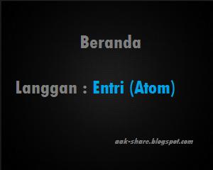 Cara Menghilangkan Langgan : Entri (Atom) dan Subscribe to : Poskan Komentar (Atom)