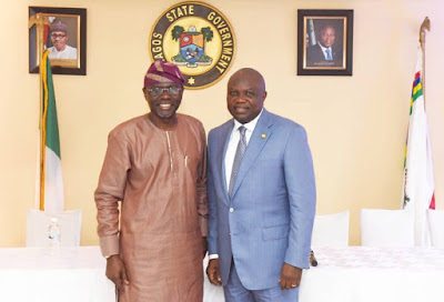 Ambode Receives Sanwo-Olu In Governor's Office (Photos)