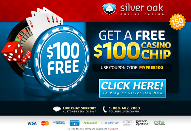 Silver Oak Casino $100 Free Chip