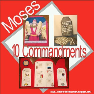 http://www.biblefunforkids.com/2012/10/moses-and-10-commandments.html