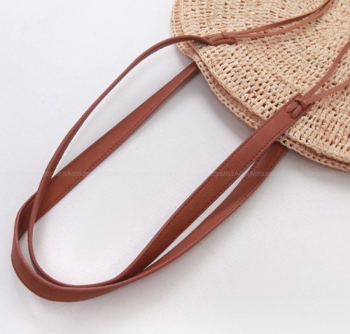 Contrast Strap Round Shoulder Bag