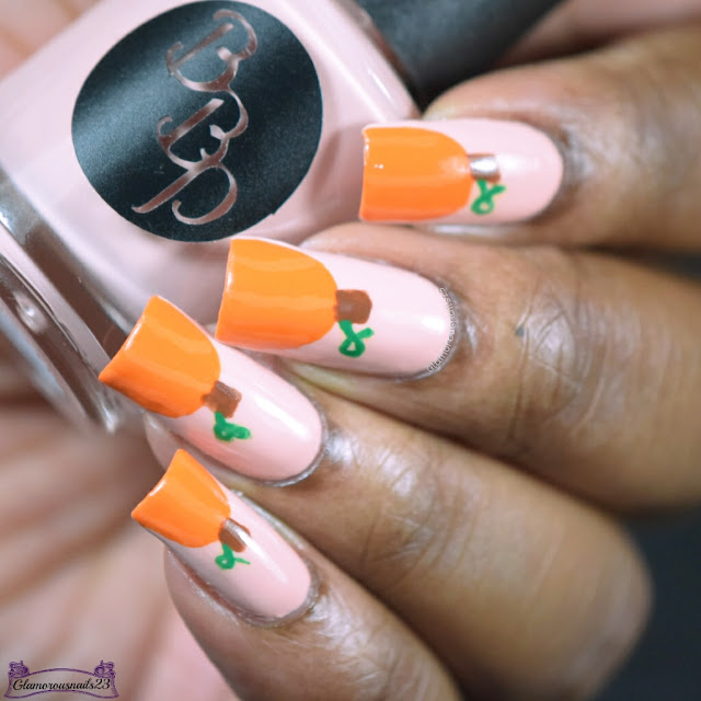 Challenge Your Nail Art Day 11 - Pumpkins