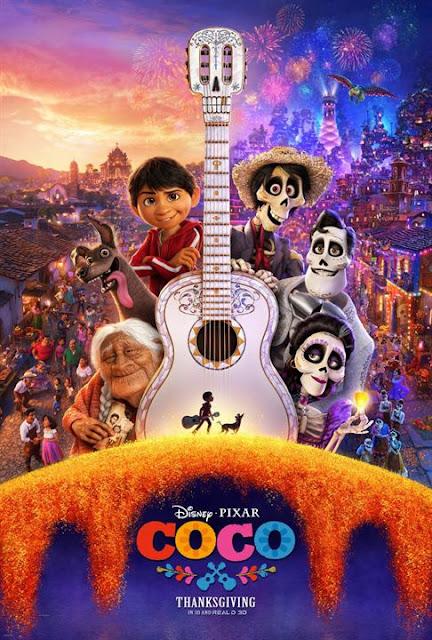 Cartel película de Pixar Animation Studios Coco