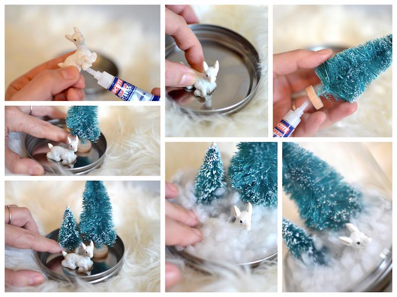 DIY Boules de noël avec du matériel Hema