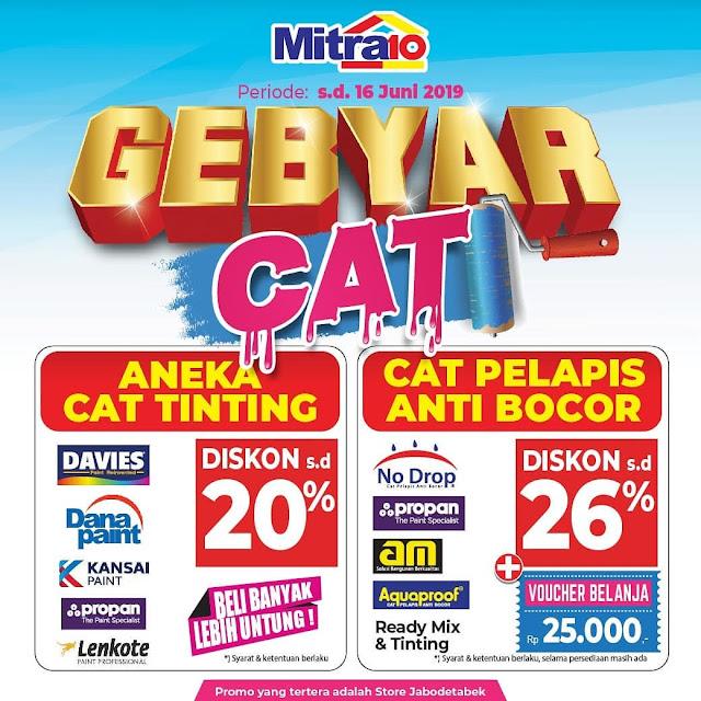 #Mitra10 - #Promo Diskon 20% Aneka Cat & Pelapis di Gebyar Cat Mitra 10 (s.d 16 Juni 2019)