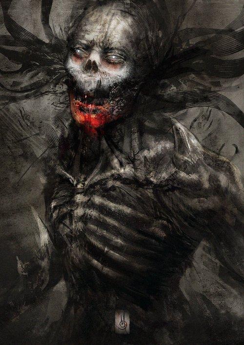 Murat Gül artstation deviantart arte ilustrações terror fantasia sombria