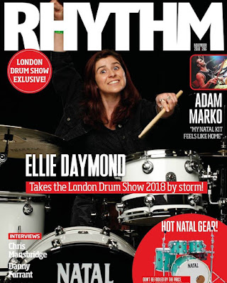 Ellie Daymond on the front cover of Rhythm magazine