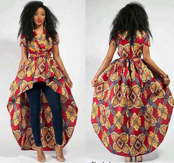 ankara long gown dress
