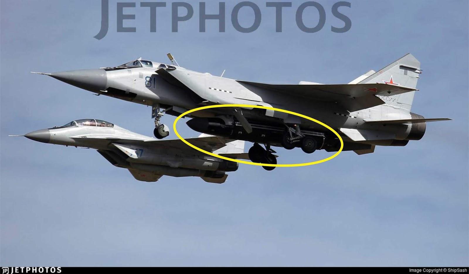 Tentengan baru MiG-31 akan menjadi pembunuh satelit