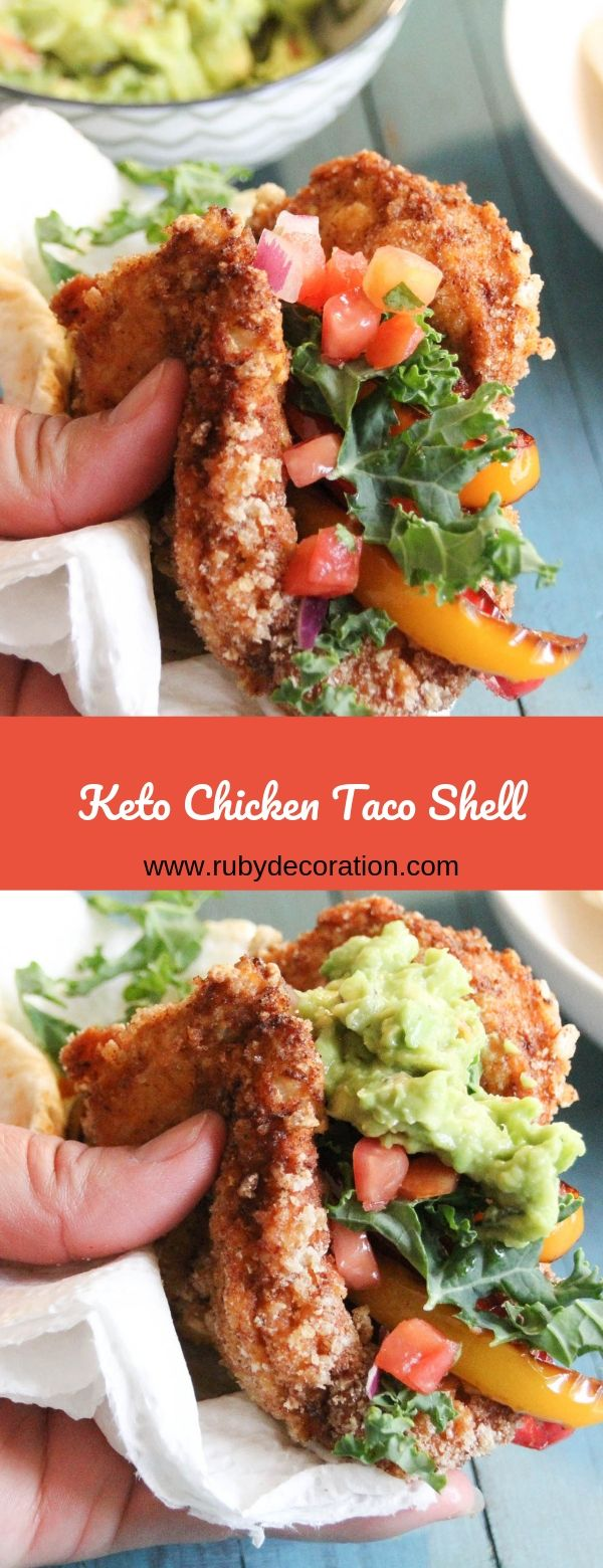 Keto Chicken Taco Shell