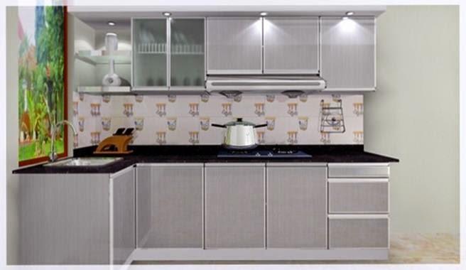 Kumpulan foto kitchen set minimalis murah sederhana jual for Dapur set aluminium