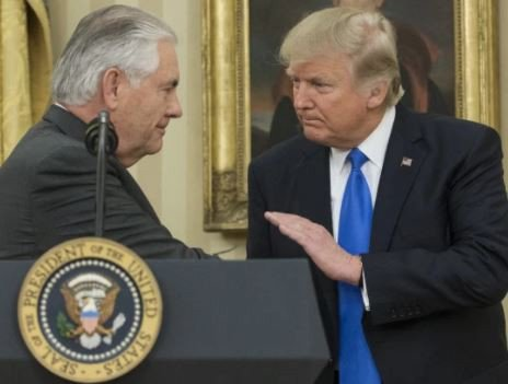 President Trump fires Secretary of State, Rex Tillerson who is on an African tour and replaces him with CIA Director, Mike Pompeo