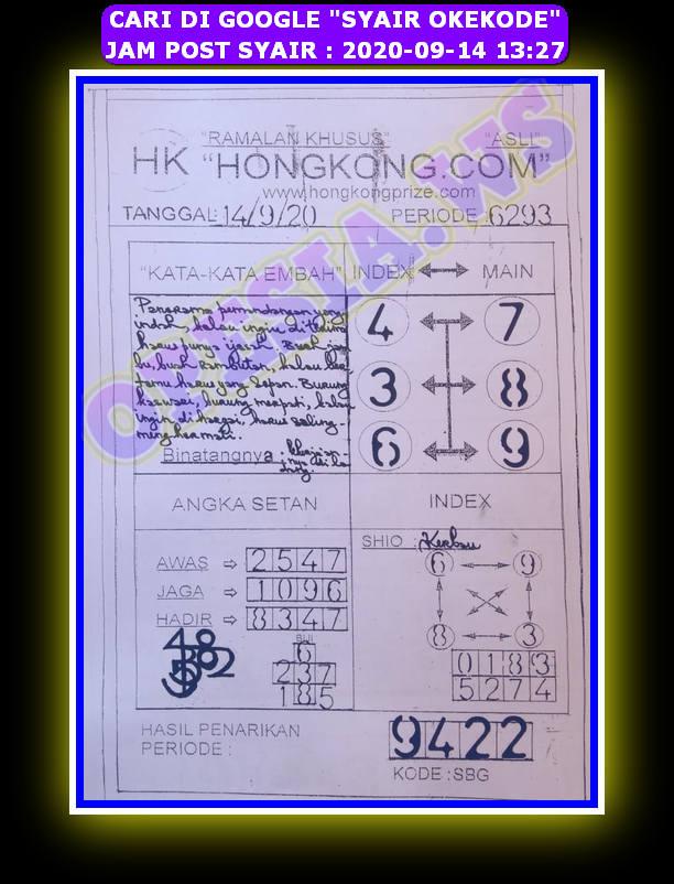 Kode syair Hongkong Senin 14 September 2020 79