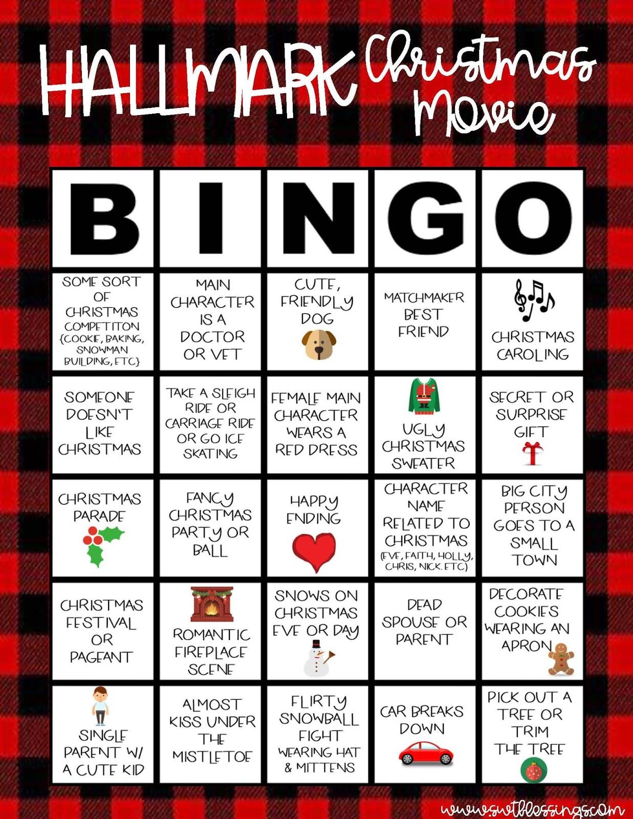 sweet blessings hallmark christmas movie bingo