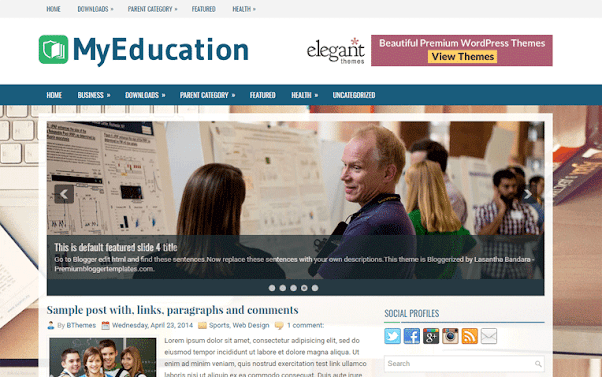 MyEducation Free Blogger Template