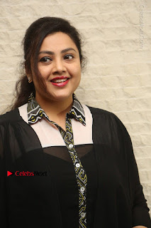 Tamil Actress Meena Latest Stills in Black Dress at TSR TV9 Awards Press Meet  0002.JPG