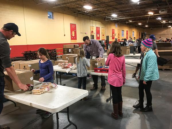volunteering to help end hunger.