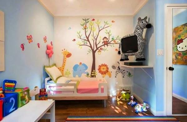 cuarto decorado para niña