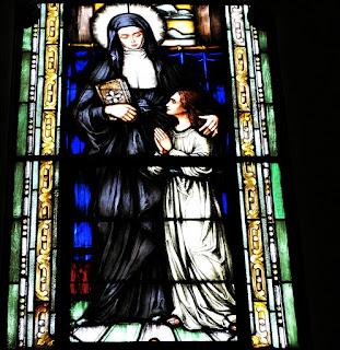 Vitral de Santa Helena - Igreja Nossa Senhora das Dores, Santa Maria (RS)