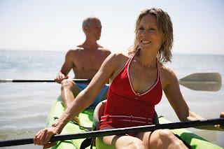 active healthy older couple enjoying life