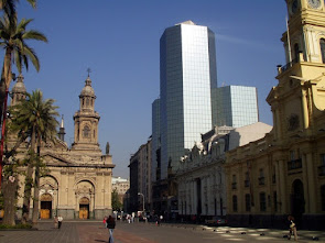 A view of Santiago, capital city of Chile.