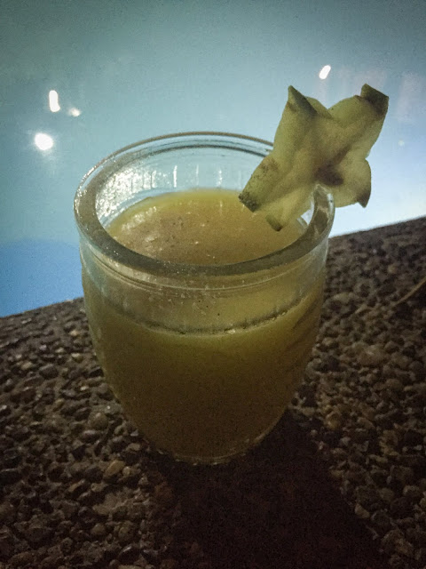 Suc de mango la Rio Elemento; Minca, Columbia