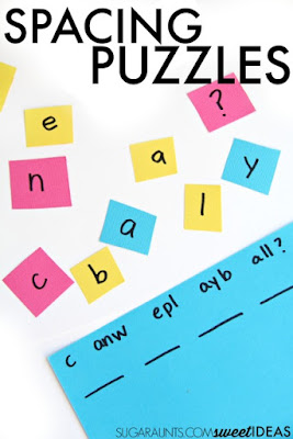 Spacing awareness in handwriting with spatial organization puzzles